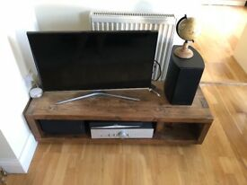 **Industrial wood console TV unit**