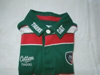 A Genuine Leicester Tigers 2010-2011 Home Rugby Shirt Short Sleeve