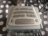 Sony alarm clock.