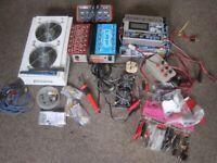 JOB LOT OLD RADIO CONTROL SPARES CHARGERS,FANS,ARMATURES ETC (COLLECTION LE27QT)