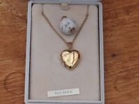 Gold Chain and Heart Locket
