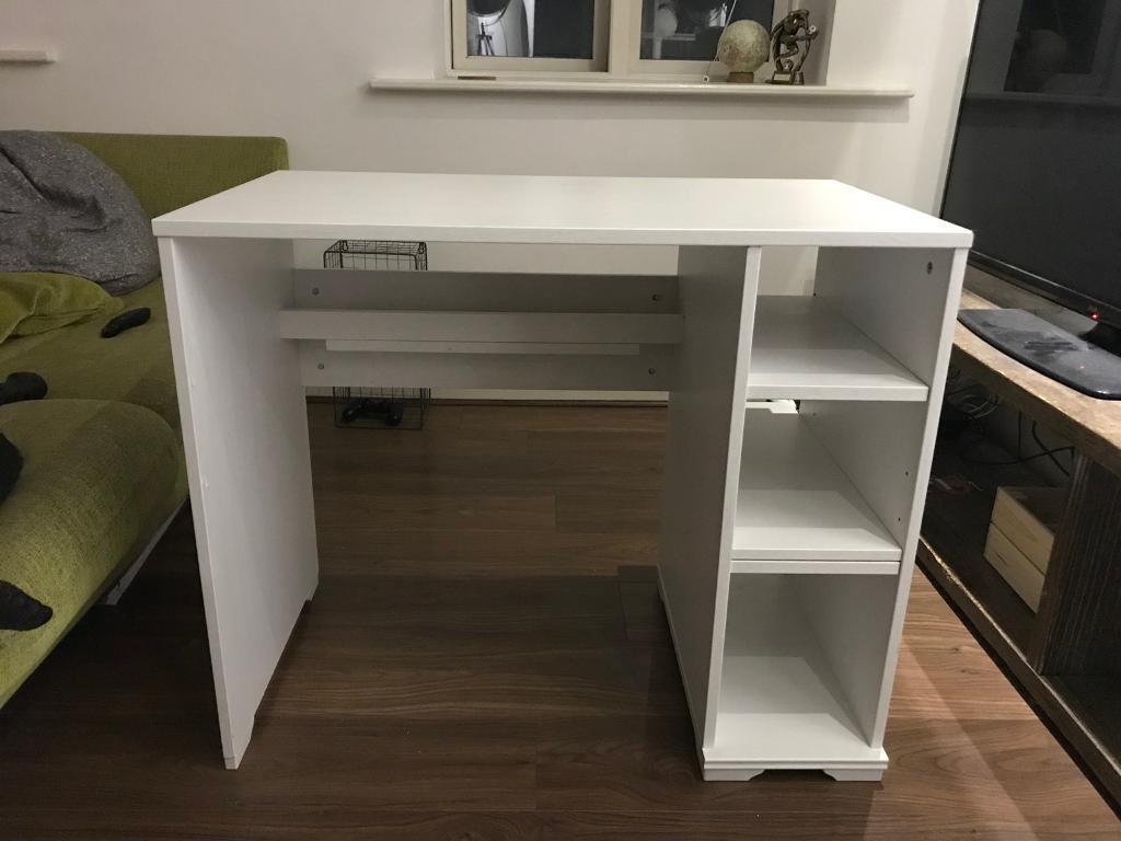 IKEA Borgsjo desk / dressing table - white wood