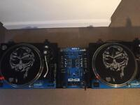 2 x Citronic PD1 Direct Drive DJ Turntable with mixer (Collection NW11 7LR)