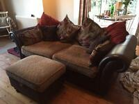 Sofa bed and footstool