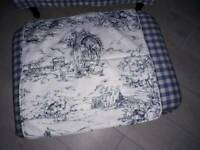 Toile de jouy large cushion covers