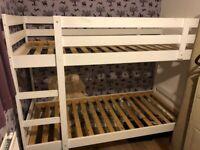 Bunk bed & mattresses