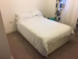 Small double divan bed and mattress £50 ONO