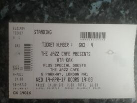 Ata Kak standing ticket Jazz Cafe London 19 April 2017 SOLD OUT GIG