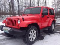 2013 Jeep Wrangler SAHARA WITH LEATHER ONLY 13600 KM