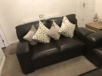 scs leather 3+2 sofa s never used can dleiver free