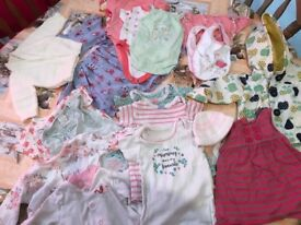 Newborn baby girl clothes bundle