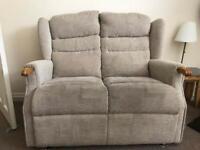 2 seater fabric cream sofa