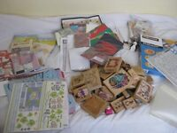 Large collection of craft supplies -papercraft, rubber stamps, kids craft kits , papers and storage