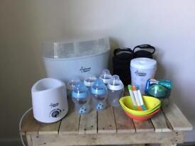 Babies Starter Set...Tommee Tippee Steriliser, Bottles, Bottle Warmer, Baby Baths, and much more...