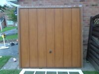 medium oak effect regular size garage door