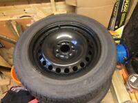 Winter tyres with steel wheels