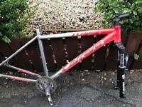 adults carrera fury mountain bike frame for spares or repairs