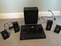 Samsung surround sound speaker home cinema system (plus Blu-Ray player which is faulty)