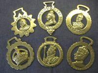 Vintage Royal Commemorative Horse Brasses of Kings & Queens
