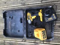 Dewalt impact drill bare unit & two charges and case
