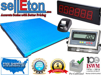 40 X 40 Floor Scale With Printer Scoreboard Warehouse Industrial 10000 X 1