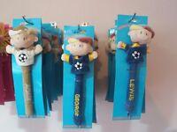 360 kids personalised plush pens job lot