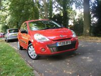 2009 renault clio red 3dr,long mot,87k with s/s/history