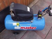 50 ltr air compressor and kit (also please see all my other ads)