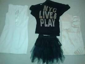 3 party dresses - size L - cream, black, golden