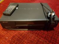 sharp video player/ recorder with remote and tapes model vc-a39