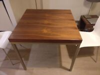 Dwell Flick table with white chairs - Walnut - Great condition
