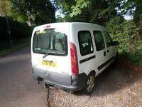 Renault Kangoo car/van, disabled/wheelchair ramp conversion, towbar, low milage, clean and tidy