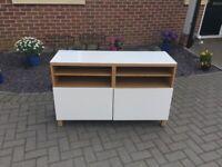 Gloss White / Oak Effect TV Cabinet for sale  Maldon, Essex