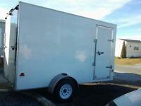 2013 enclosure white trailer