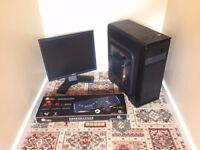 Gaming Computer PC Complete Setup, Monitor (Minecraft, dual core, 4GB RAM, 160GB, Nvidia Graphics)