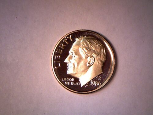 1986 S 10C Proof Roosevelt Dime  - **FREE SHIPPING**
