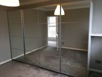 Immaculate condition Pax wardrobes. 1 year old.