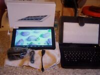 "NEW: - 9"" Inch Tablet PC Android 4.4.2 Netbook Mini Laptop + Tablet Keyboard Case"