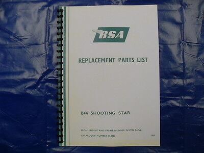 BSA SHOOTING STAR DECALS 1966-67 B44SS Full set
