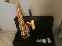 lto Saxphone Brass Lacquered Gold E Flat Sax 802 Key Type Woodwind 0G7B