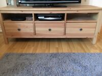 Wooden IKEA TV stand fully assembled new condition