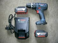 BOSCH 18V COMBI HAMMER DRILL 2 X 4AH BATTERIES AND CHARGER BRAND NEW