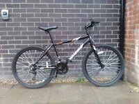 Mens black hybrid bike