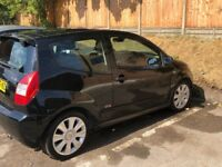 Black 2006 Citroen C2 1.6i VTR, 1 Years MOT Wimbledon