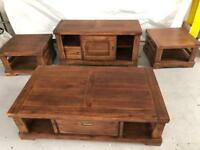 Consul tables & coffee table & unit