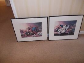 Two framed prints good condition