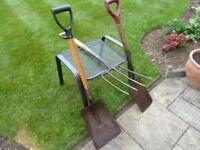 Shovel, Fork & Spade