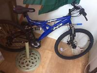 Brand new mountain bike cost 140.00 Halfords