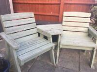 Garden twin companion chairs & table