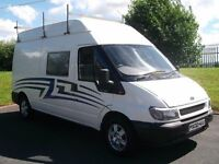 FORD TRANSIT T350 CAMPERVAN *FULL MOT* LIKE MOTOR CROSS TRANSPORTER CARAVAN SPRINTER